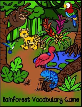 Rainforest Vocabulary Matching Game