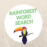 Rainforest Word Search