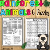Rainforest Word Search Puzzles Crossword