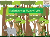 Rainforest Word Wall With Pictures