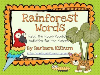 Rainforest Words {Vocabulary/Read the Room Activity}