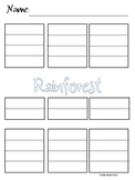 Rainforest Writing Graphic Organizer Primary and Regular L