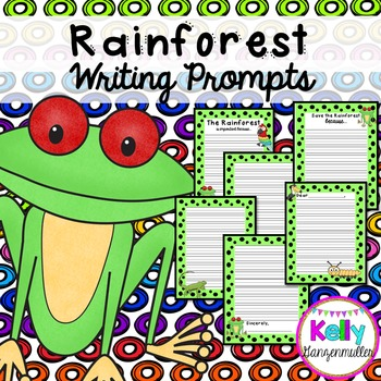 Rainforest Writing prompts-NO PREP