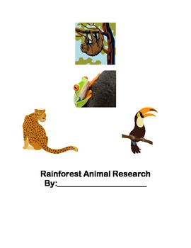 Rainforest animal research planner