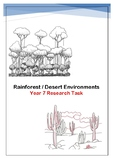 Rainforest or Desert Environments Research Task