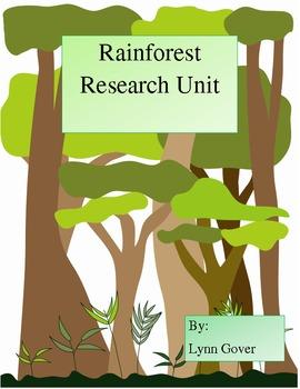 Rainforest unit Animals Research Writing