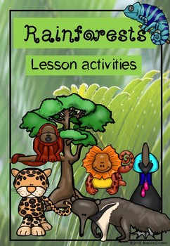 Rainforest worksheets and activities pack