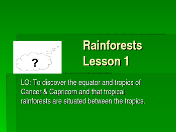 Rainforests Topic Planning & Resources