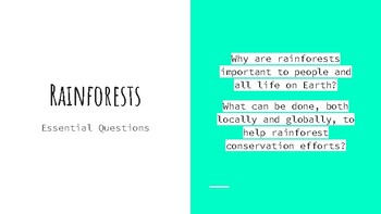 Rainforests and Local Forest Field Research