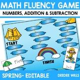 Math Fluency: Spring Editable