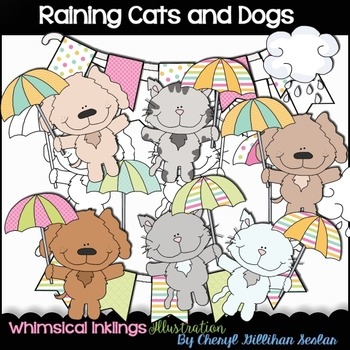 Raining Cats and Dogs Clipart Collection