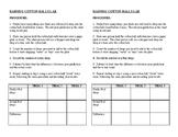 Raining Cotton Balls- Precipitation Lab