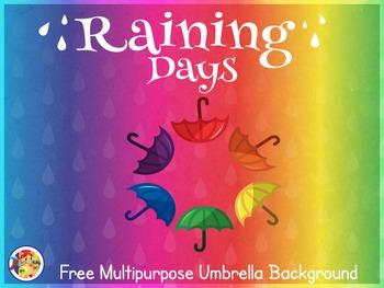 Raining Days- Free Multipurpose Umbrella Background