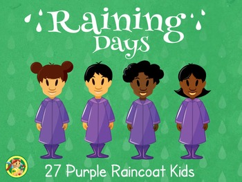 Raining Days- Purple Raincoat Kids!!!