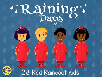 Raining Days- Red Raincoat Kids!!!