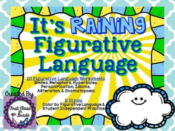 It's Raining Figurative Language (Weather Literary Device Unit)