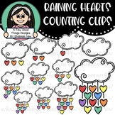 Raining Hearts Counting Clips (0-10)