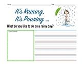 Raining Journal Prompt