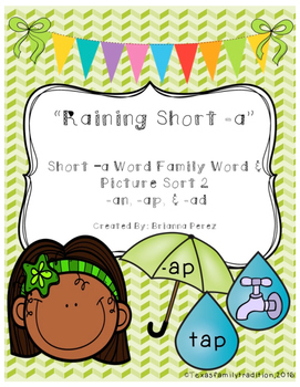 Raining Short -a Picture & Word Sort 2
