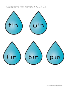 Raining Short -i Picture & Word Sort