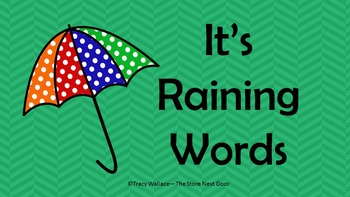Raining Words (Kindergarten Wonder Series)
