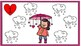 Raining hearts!Ways to represent NUMBERS. St Valentine activity for centers