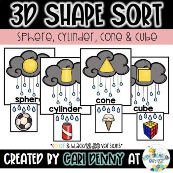 Rainy 3D Shape Sort