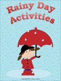 Rainy Day Activities Distance Learning