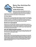 Rainy Day Activities for the Classroom