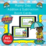 Rainy Day - Addition and Subtraction Boom Cards