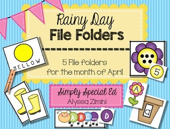 Rainy Day (April) File Folder Pack