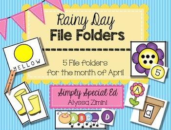 Rainy Day (April) File Folder Pack