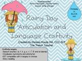 Rainy Day Articulation and Language Craftivity