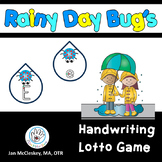 Rainy Day Bugs Alphabet Lotto Game for Handwriting Practice
