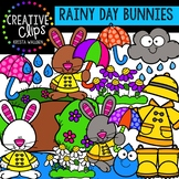 Rainy Day Bunnies: Spring Clipart {Creative Clips Clipart}