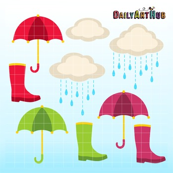 Rainy Day Clip Art - Great for Art Class Projects!