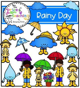 Rainy Day Clipart Set