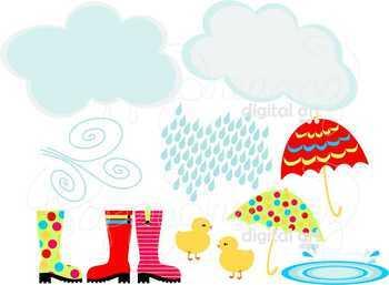 Rainy Day Clipart by Poppydreamz