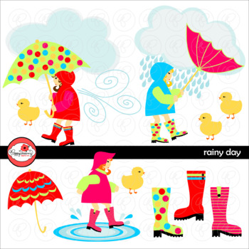 Rainy Day Clipart by Poppydreamz