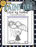 Rainy Day Color by Number