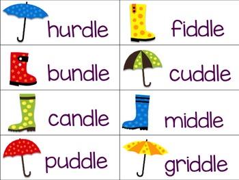 Consonant -le Game: Rainy Day