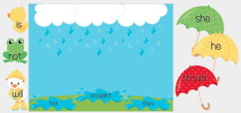 Rainy Day: Contractions (Great for Google Classroom!)