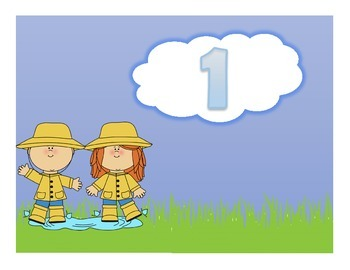 Rainy Day Counting Numbers 1-10