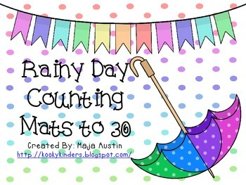 Rainy Day Counting Mats to 30
