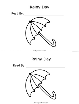 Rainy Day Counting Printable Emergent Reader Book for Young Readers