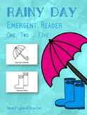 Rainy Day Counting Printable Emergent Reader Book for Youn