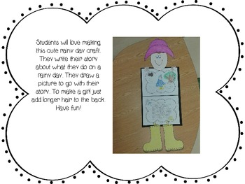 Rainy Day Craft and Common Core Writing