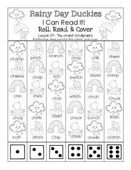 Rainy Day Duckies - I Can Read It! Roll, Read, and Cover (Lesson 29)