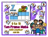 Rainy Day Friends - Ten Frame Mats 0 to 10 & Counter Cards
