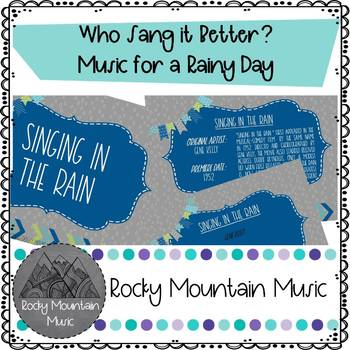 Who Sang It Better? Rainy Day Songs